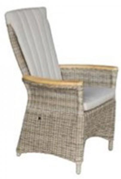 AKS Ohio Loungesessel Teakarmlehnen 69x76x114 cm Geflecht anthrazit