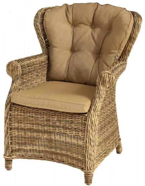 AKS Broadway Dining Chair 77x83x96 cm Geflecht weiß-grau