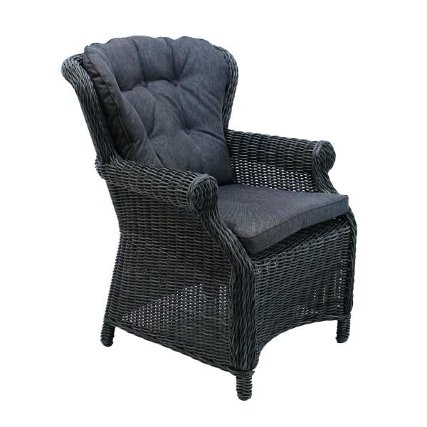 AKS Broadway Dining Chair 77x83x96 cm Geflecht light charcoal