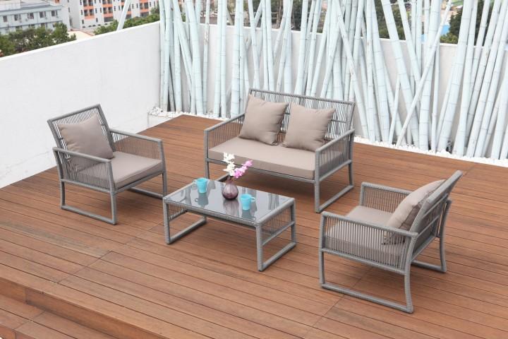 aks santander lounge set 4 teilig gartenm bel sets m bel aks im garten zuhause. Black Bedroom Furniture Sets. Home Design Ideas