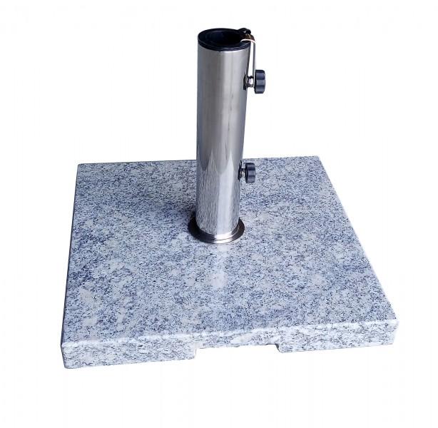 AKS Schirmständer Granit 20 kg, eckig, grau