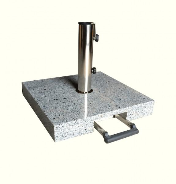 AKS Schirmständer Granit 40 kg, eckig mit Griff, grau