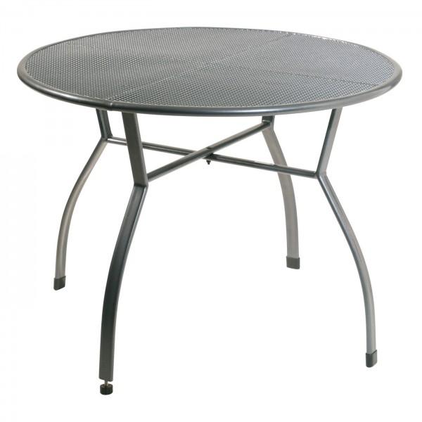 AKS Toulouse Tisch Streckmetall 100 cm, eisengrau feine Masche