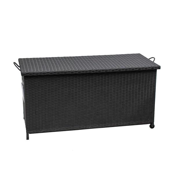 AKS Calathus Kissenbox Polyrattan/Kunstoffgeflecht schwarz