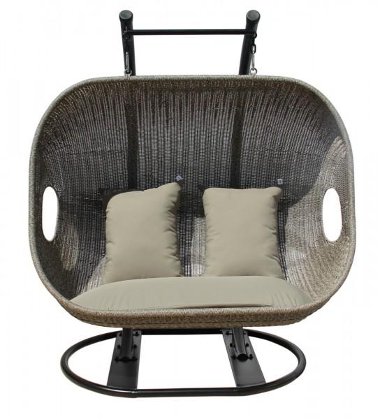 aks savona h ngekorb geflecht 144x187 cm grau. Black Bedroom Furniture Sets. Home Design Ideas