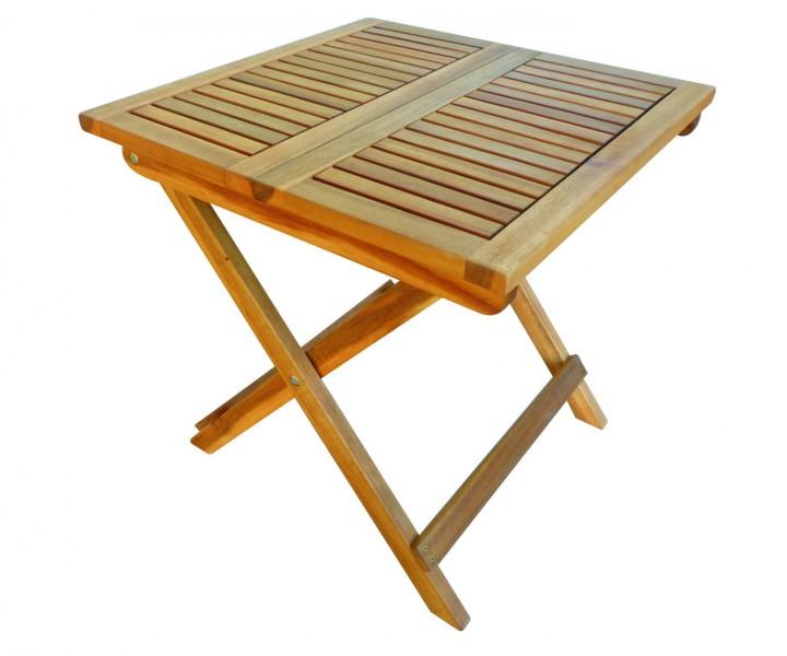 AKS Tisch Akazie 50x50x50 cm natur geölt