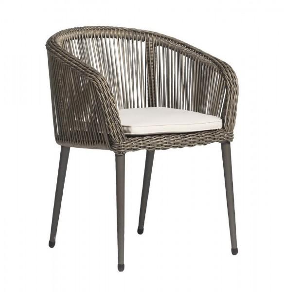 Aks Rossi Geflechtsessel 64x61x78 Cm Charcoal Silber Stuhl