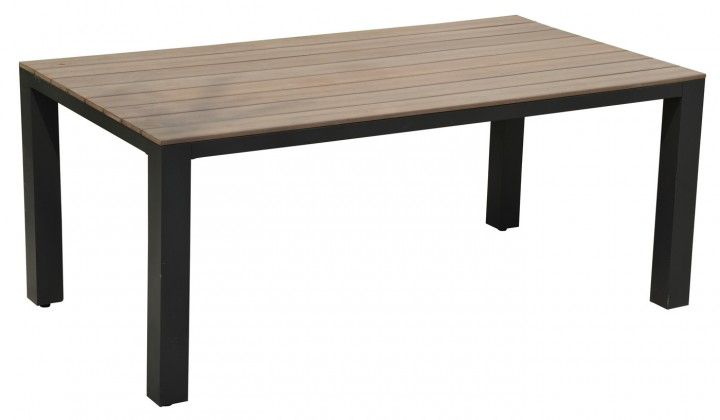 AKS Keltum Tisch Aluminium, i-wood Tischplatte