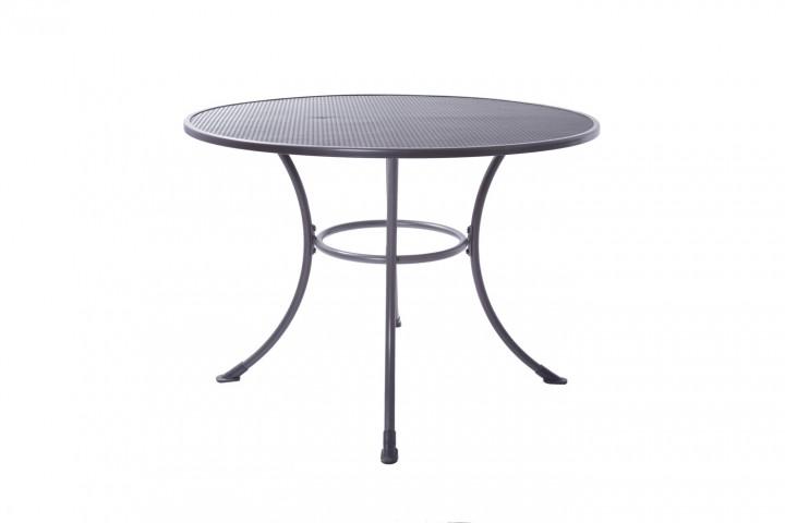 AKS Basic Tisch Standard rund 105x75 cm grau