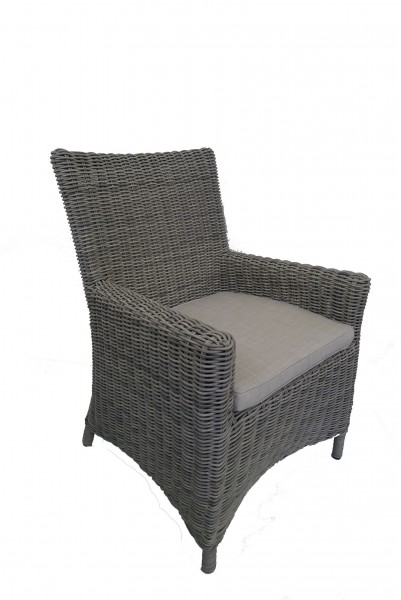 AKS Chicago Stuhl Geflecht, grey willow