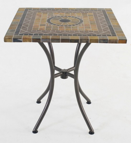 Aks korsika mosaiktisch 70x70 cm eckig grau schwarz beige for Couchtisch 70x70 schwarz
