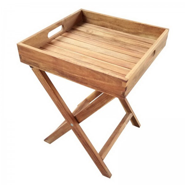 AKS Tabletttischbutler 40x40x52 cm natur geölt