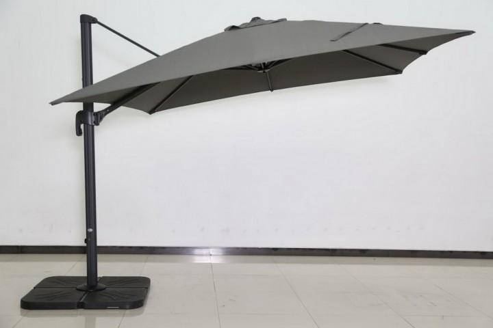 AKS Ampelschirmbezug Alu Olifen 300x300 cm dunkelgrau