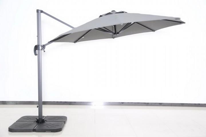 AKS Ampelschirmbezug Alu Olifen 300 cm dunkelgrau