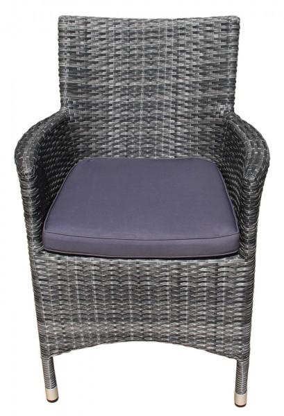 aks genua geflechtsessel 61x61x86 cm braungrau stuhl m bel aks im garten zuhause. Black Bedroom Furniture Sets. Home Design Ideas