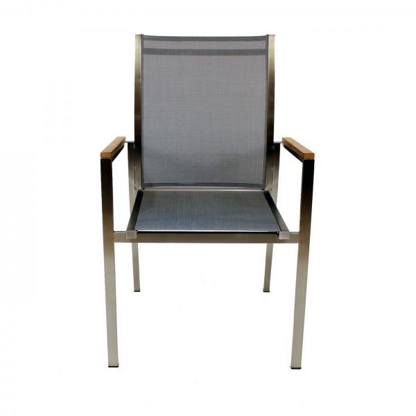 AKS Clifden Sessel silber, schwarz