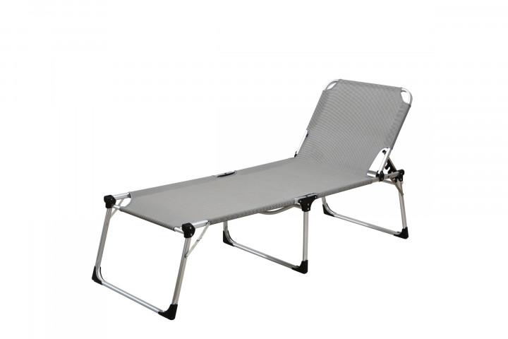 AKS Capri Sonnenliege Stahl grau schwarz