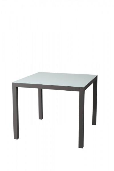 AKS Sardinien Tisch Alu 92x90x75 cm schwarz