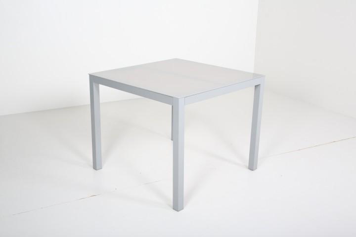 AKS Sardinien Tisch Alu 92x90x75 cm hellgrau