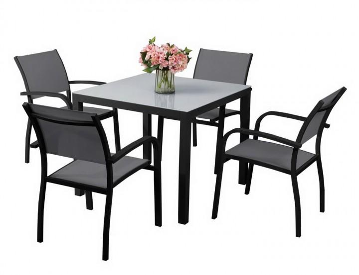 AKS Sardinien Dining Set schwarz