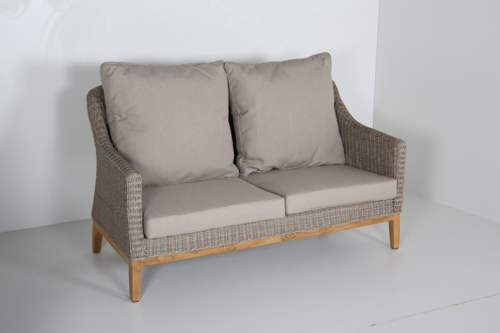 AKS Key West Diningsofa Polyrattan/Kunstoffgeflecht nature willow