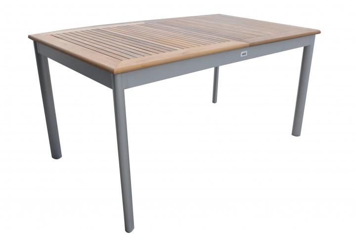 AKS Luna Tisch Teak 150x89 cm silber