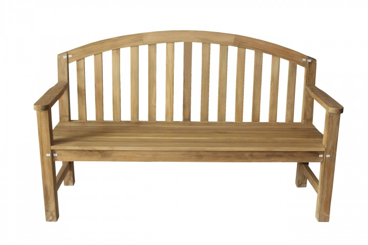 AKS Chicago Bank Teak 155x55x98 cm natur