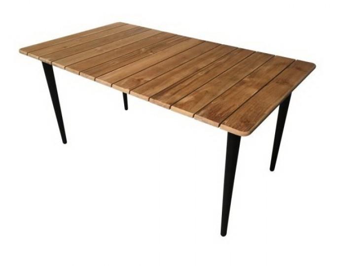 AKS Laval Tisch Teak, schwarz 160 cm