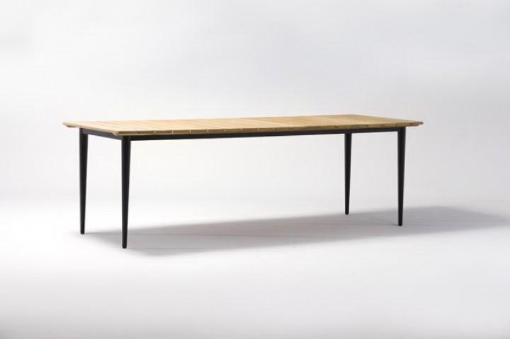 AKS Laval Tisch 240x90x75 cm schwarz mit Teak
