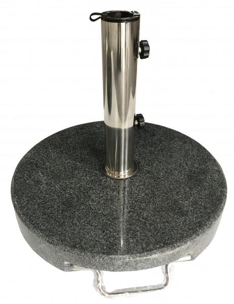 AKS Schirmständer Granit 30 kg, rund mit Griff, dunkelgrau