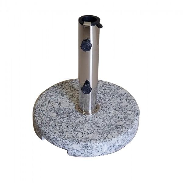 AKS Schirmständer Granit 25kg rund, grau