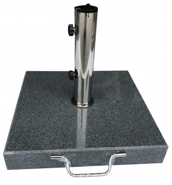 AKS Schirmständer Granit 40 kg eckig, dunkelgrau