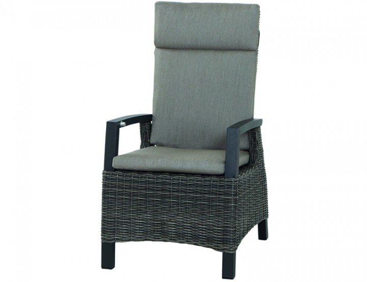 AKS Benedetto Lounge Sessel 73x87x103 cm charcoal grey, incl. Kissen