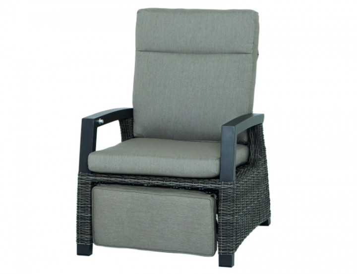 AKS Benedetto Relaxsessel Polyrattan/Kunstoffgeflecht charcoal
