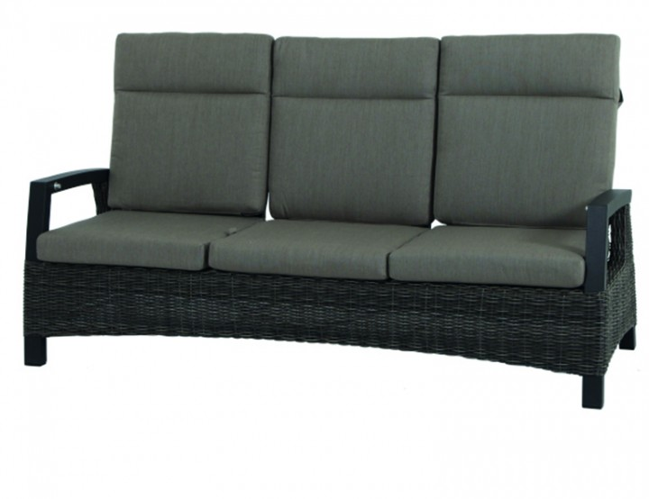 AKS Benedetto Loungebank Geflecht, charcoal grey