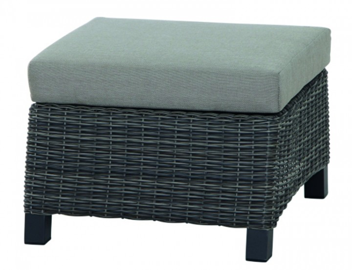 AKS Benedetto Hocker 60x58,5x33,5 cm charcoal gray, incl. Kissen