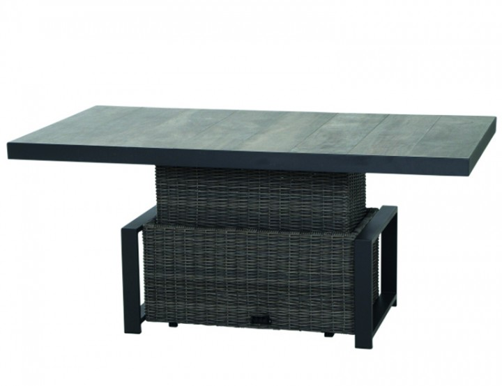 AKS Benedetto Lift Tisch, charcoal grey