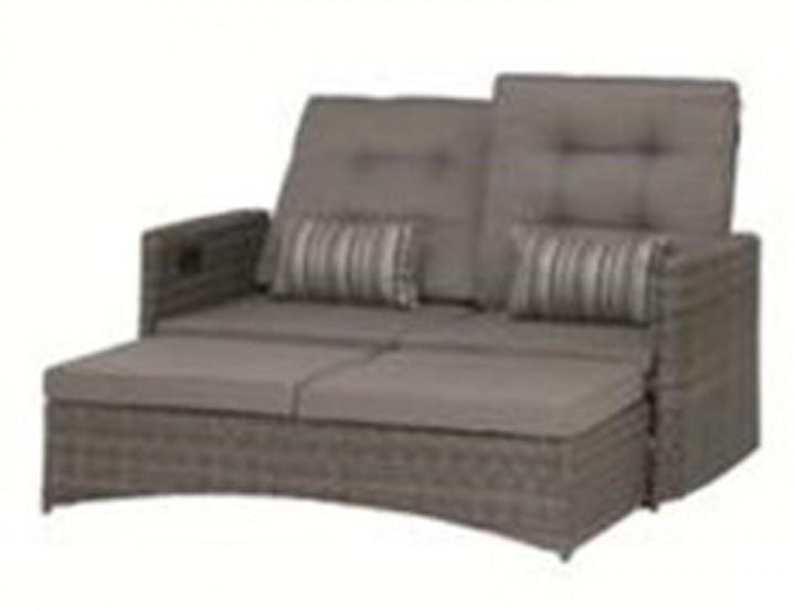 AKS Memphis Move Sofa 2-Sitzer Geflecht, grau
