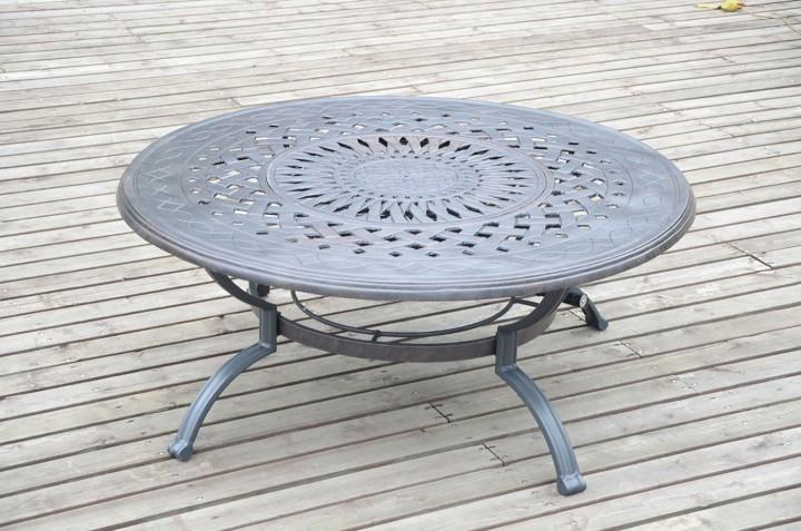 AKS Glasgow Tisch Aluguß 121x49 cm bronze