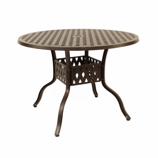 AKS Leeds Tisch Aluguß, bronze
