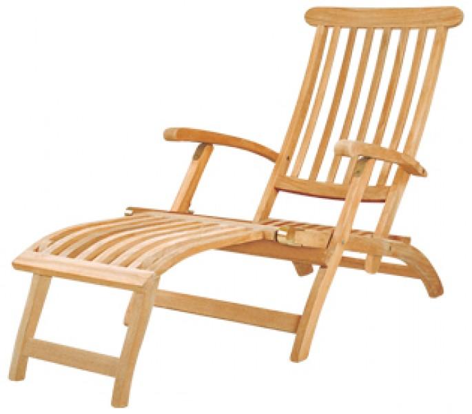 AKS Brighton Deckchair Teak 62x177x92 cm natur