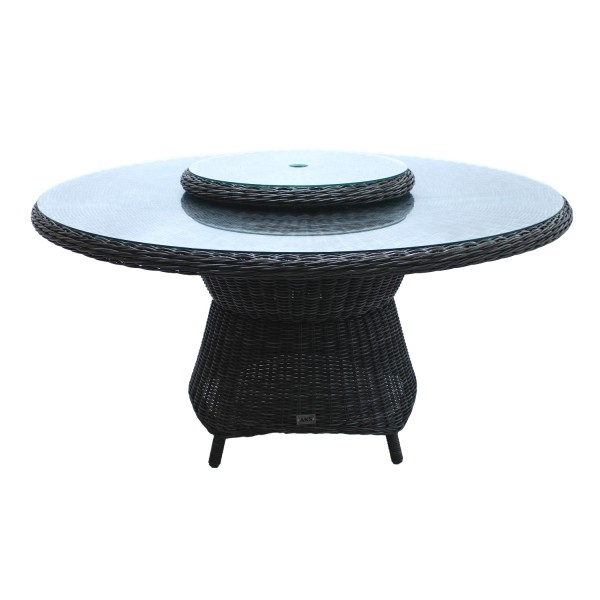 AKS Broadway Diningtisch Polyrattan/Kunstoffgeflecht light charcoal