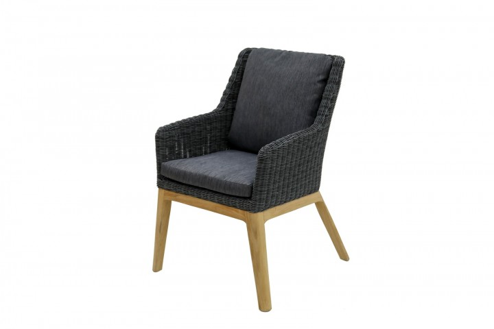 AKS Albany Sessel Geflecht, light charcoal