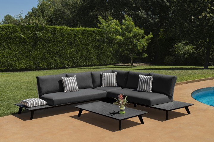AKS Living Lounge Set 4-teilig ohne Dekokissen