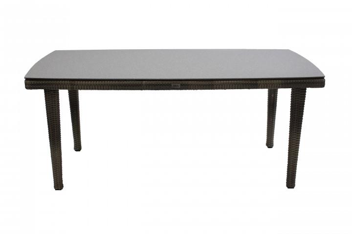 AKS Cleveland Diningtisch Polyrattan/Kunstoffgeflecht grey-shell