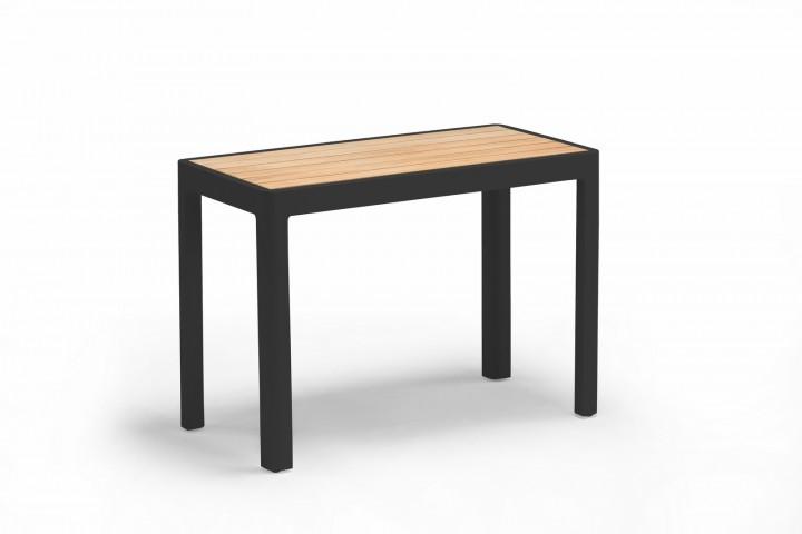 AKS Pearl Tisch, Alu/Teak, schwarz 37,5x75x53 cm