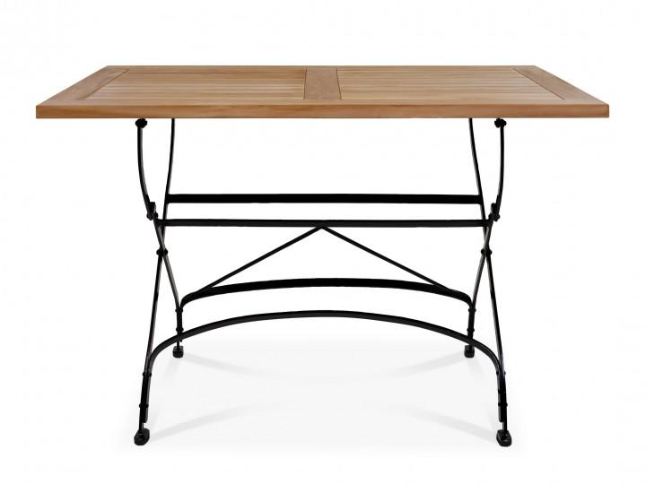 AKS Mainau Tisch 120x80 cm Teak/Eisen