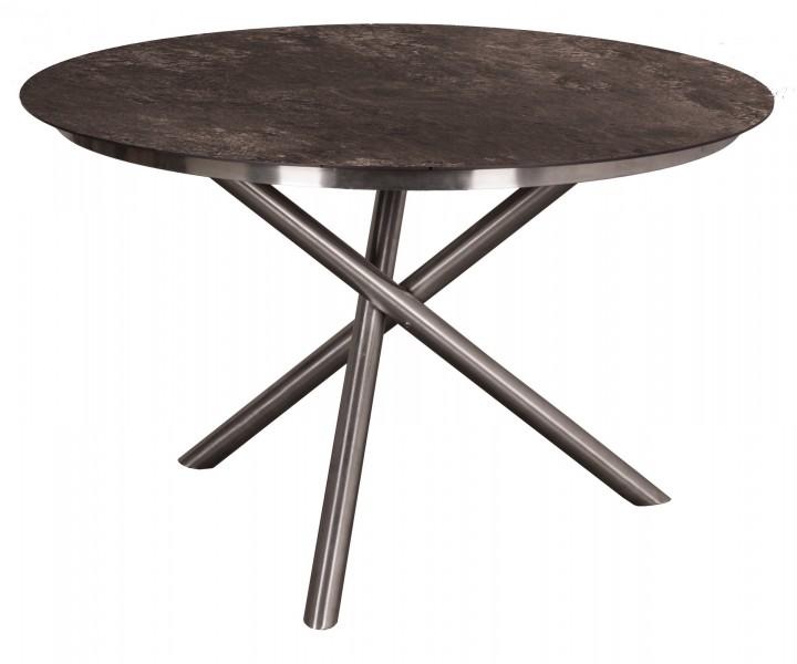 AKS Ballina Tisch Edelstahl HPL Platte, grau, 120 cm