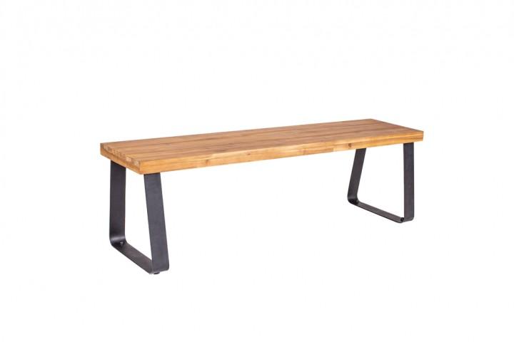 Have&Stol Sten Bank Holz 150x43x46 cm Akazie/natur-schwarz