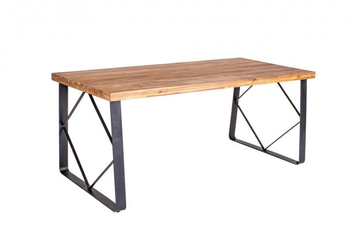 Have&Stol Sten Tisch Holz 180x86x75 cm Akazie/natur-schwarz